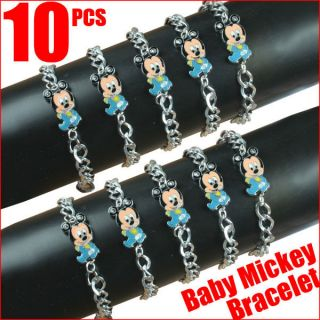 pcs Baby Mickey Mouse Charm Bracelets Baby Shower Birthday Party Gifts