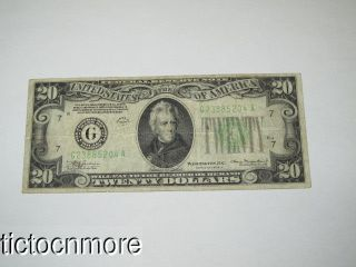 US 1934 A $20 DOLLAR BILL FEDERAL RESERVE NOTE GREEN SEAL CHICAGO