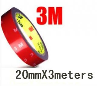 3M Auto Double Sided Adhesive Tape Attachment 20mmX3meters