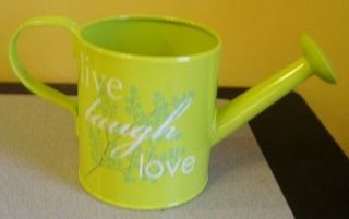 Wonderful Steel Watering Can 1/2 Gallon, 2 Liter, Green, Live Laugh