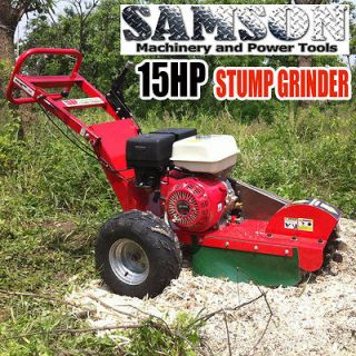 New 15HP Gas Powered Walk Behind Stump Grinder Wood Cutter   FREE