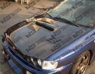 ViS 1993 2001 Subaru Impreza OEM Carbon Fiber Hood W/ Scoop
