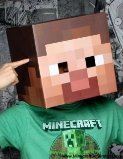 OFFICIAL LICENSED MINECRAFT LARGE CARDBOARD STEVE HEAD MASK (12 INCHES