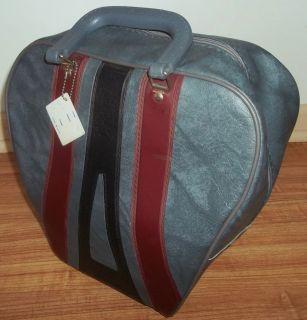 Vintage Bowling Ball Bag RETRO BRUNSWICK Blue Gray Black & Burgundy
