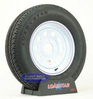 Trailer Tires ST 205/75R15 Radial White Rims Wheels 15