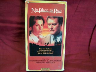 No Place To Run VHS OOP, HTF, Rare Larry Hagman, Stephanie Powers