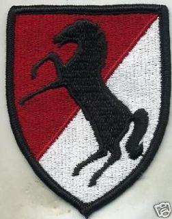 Vietnam Era US Army 11th Armored Cavalry Regiment Patch