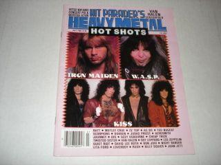 IRON MAIDEN rare Hit Parader magazine 1986 Randy Rhoads KISS Van Halen
