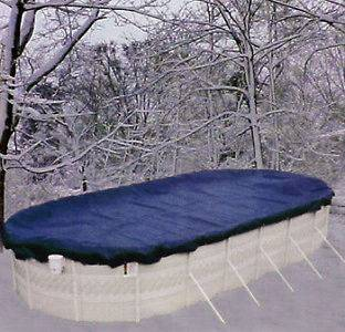 Oval Above Ground Winter economy Swimming Pool Solid Cover 8 Yr Wrnty