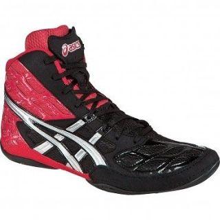 NEW J203Y Asics Split Second 9 Mens Wrestling Shoes Red/Black/Silver