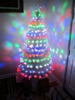 PRE LIT FIBER OPTIC ARTIFICIAL CHRISTMAS TREE w/ 200+ MULTI COLOR