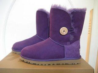 NIB UGG Australia Womens Bailey Button Boysenberry Purple Boots Sizes