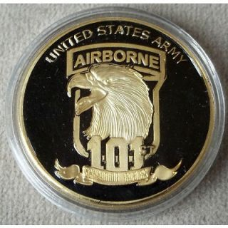 UNITED STATES AIRBORNE SCREAMING EAGLE CHALLENGE COIN