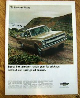 1969 Chevy Chevrolet Pickup Truck Ad