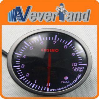 Universal Auto Car Rev counter Tach Tachometer RPM Gauge Meter