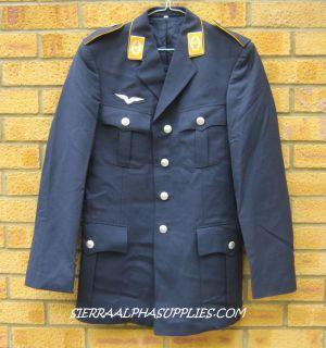 GERMAN ARMY SURPLUS G1 MENS BLUE LUFTWAFFE DRESS UNIFORM TUNIC FANCY