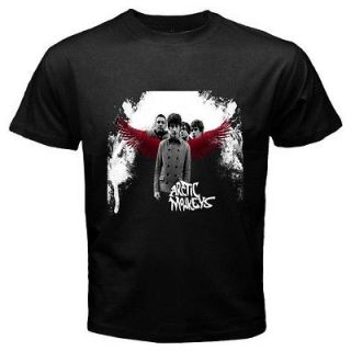 ARCTIC MONKEYS English Rock Band Mens Black T Shirt Size S 3XL