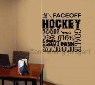Sports Vinyl Decal Wall Sticker Words Lettering Teen Room Office Decor