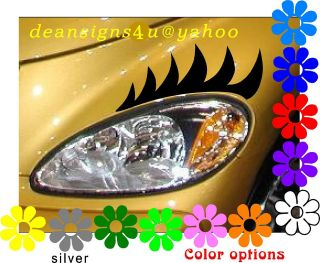 eyelashes decals headlight car chrysler black eyelash auto new light