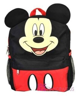 Disney MICKEY MOUSE with Ear School Backpack 12 Small Book Bag Kids