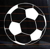 SOCCER BALL Vinyl Decal 6x6 fútbol car wall sticker jersey shoes