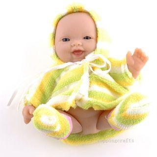 Lifelike Polyethylene Reborn Lifelike Baby Doll Yellow Clothes T8609