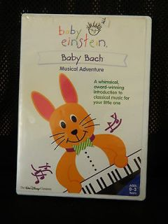 DISNEY BABY EINSTEIN BABY BACH DVD MOVIE VIDEO USED 0 3 YEARS MUSICAL