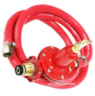 20psi BBQ Propane Regulator High pressure Gas Wok Hose For Regular