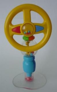 NEW BABY TODDLER HIGH CHAIR SUCTION BASE CLICKING STEERING WHEEL TOY