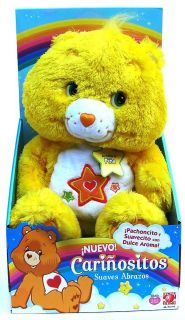 Care Bears YELLOW Soft Hugs Scented 30cm Plush Bear   Mexican Import