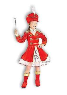 drum majorette major child costume dress sequin hat 8 10 medium girl