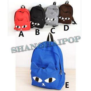 Girls Backpack Canvas Rucksack School Bag Satchel Holiday Black/Blue