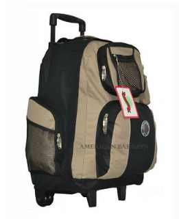 Transworld 18 Rolling Wheeled Backpack Book Bag (12 colors)