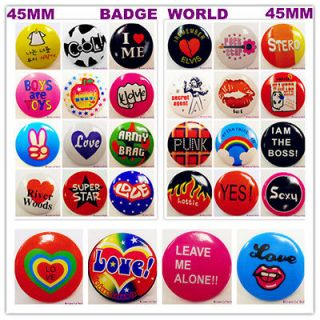 Badge World Milano Designer 45mm Retro Pin Round Button x1 29