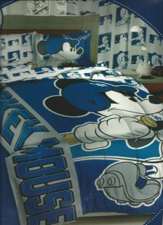 Twin Comforter Reversible Set Disney Mickey Mouse LA Dodgers Baseball