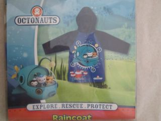OCTONAUTS Licensed Boy raincoat mac jacket Kwazii Peso Barnacles