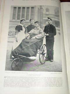1896 HERBERT HOSPITAL WOOLWICH PATIENT BATH CHAIR NURSE