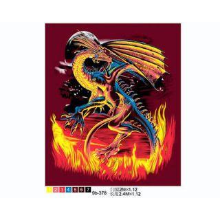 Super Plush Queen Fleece Blanket 79x95 Mink Black Red Dragon Flame