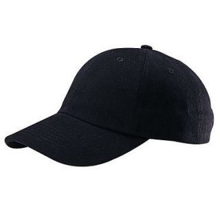NEW PLAIN LOW PROFILE BASEBALL HAT CAP ADJUSTABLE BLACK