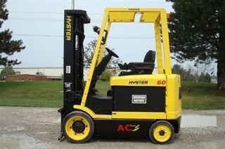 lb CAPACITY ELECTRIC FORKLIFT LIFT TRUCK RECONDTIONED BATTERY LOW HR