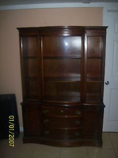 BASSETT MAHOGANY GLASS FRONT CHINA CABINET