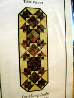 MOROCCAN TILES TABLE RUNNER QUILT PATTERN