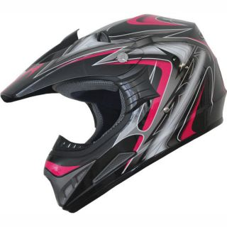 Off Road racing ATV Motocross Dirt Bike Helmet DOT 178 pink