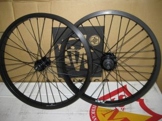 FIT3 BMX BIKE 20 WHEELS SET BLACK REVENGE RIMS F&R 9t CASSETTE sealed