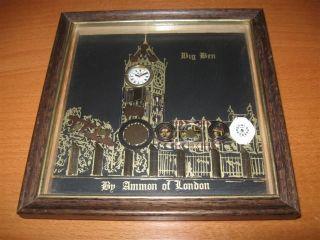 Original Ammon of London Horological Collage Art Big Ben Clock Tower