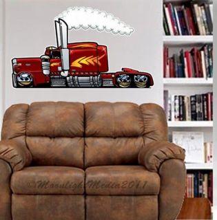 Peterbilt Big Rig Semi Truck WALL GRAPHIC FAT DECAL MAN CAVE ROOM