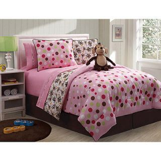Monkey Reversible 3 Piece Twin Size Comforter Set   Twin