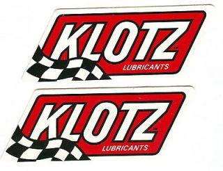 SET OF (2) LARGE KLOTZ LUBRICANTS NASCAR NHRA RACING DECALS STICKERS
