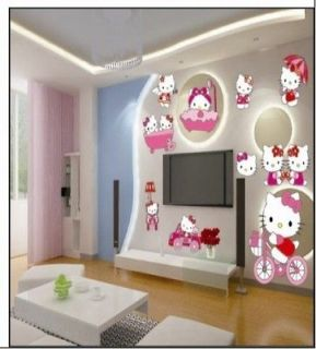 Lovley Hellokitty Happy DIY Wall Sticker Decal with boxing YKh128