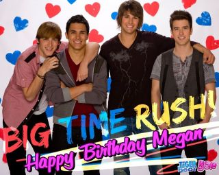 Big Time Rush Frosting Sheet Edible Cake Topper Quarter or Half Sheet